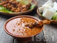 Рецепта Сос от фъстъчено масло за нудъли, зеленчуци или месо